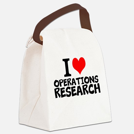 I Love Operations Research Canvas Lunch Bag