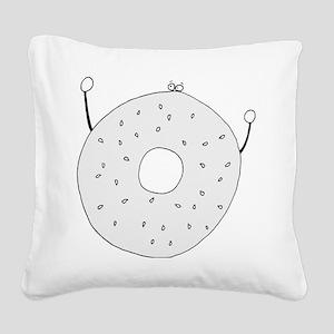 Bagel - cafe Square Canvas Pillow
