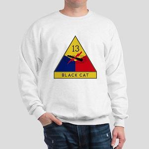 13th Armored Division - Black Cat Sweatshirt