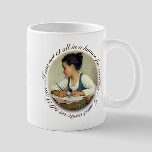 Girl Writer (brown) Mugs
