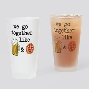 Beer and Pizza Drinking Glass