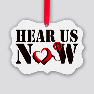 Hear Us Now Ornament