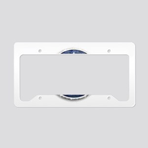 usaf_star_stripe_roundel_cafe License Plate Holder
