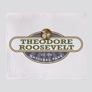 Theodore Roosevelt National Park Throw Blanket