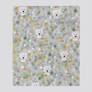 Westie Impressions Throw Blanket