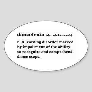 Dancelexia Sticker (Oval)