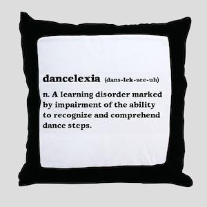 Dancelexia Throw Pillow