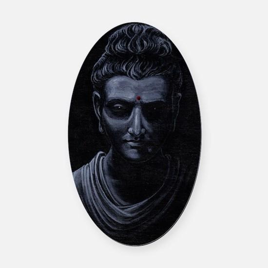 Buddha Oval Car Magnet