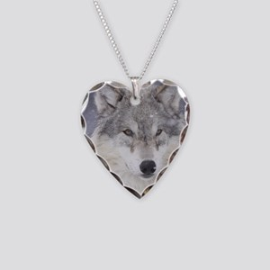 ms  Wolf Necklace Heart Charm