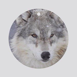 ms  Wolf Round Ornament