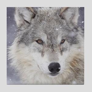ms  Wolf Tile Coaster