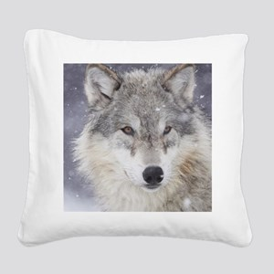 ms  Wolf Square Canvas Pillow