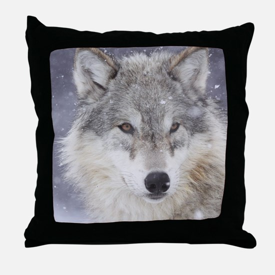 ms  Wolf Throw Pillow