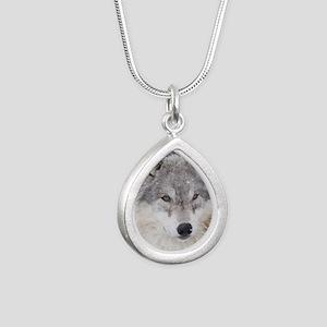 ms  Wolf Silver Teardrop Necklace