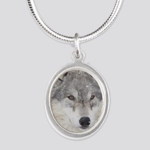 ms  Wolf Silver Oval Necklace