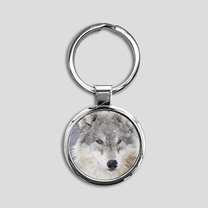 ms  Wolf Round Keychain