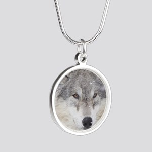 ms  Wolf Silver Round Necklace