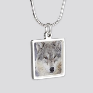 ms  Wolf Silver Square Necklace