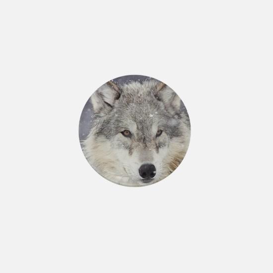 x10  Wolf Mini Button