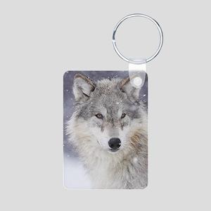 x14  Wolf Aluminum Photo Keychain
