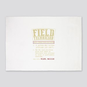 Field Technician Dictionary Term T- 5'x7'Area Rug
