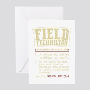 Field Technician Dictionary Term T- Greeting Cards
