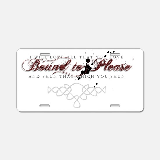 BoundtoPlease001sm Aluminum License Plate