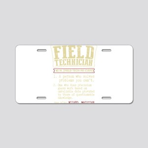 Field Technician Dictionary Aluminum License Plate