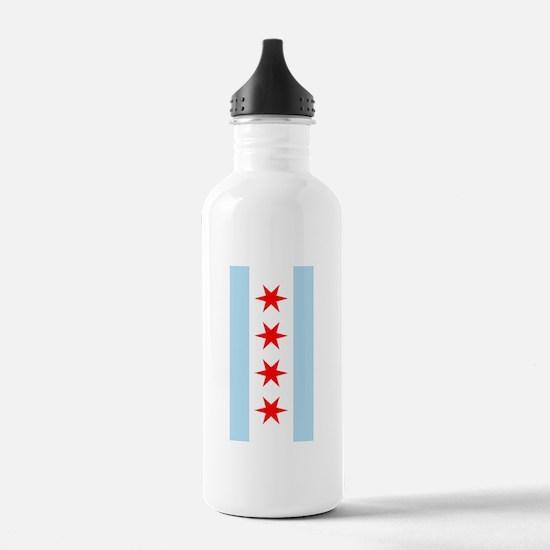 Chicago Flag iPad Case Water Bottle