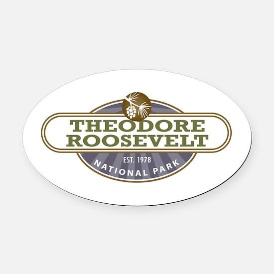Theodore Roosevelt National Park Oval Car Magnet