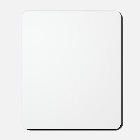 I believe - white Mousepad