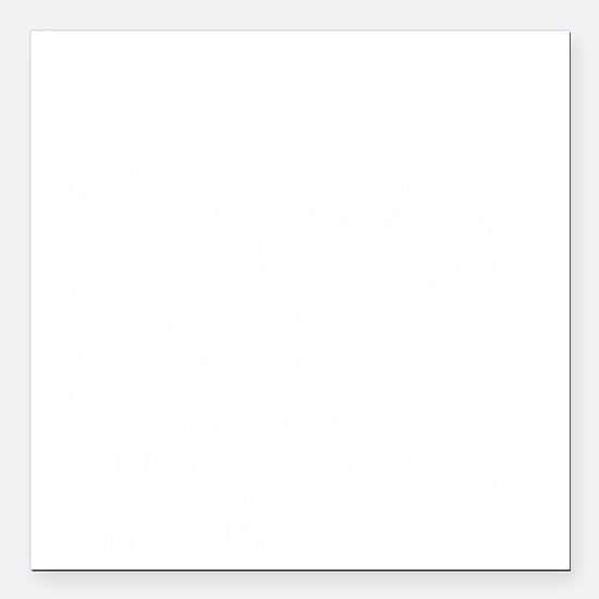 "I believe - white Square Car Magnet 3"" x 3"""