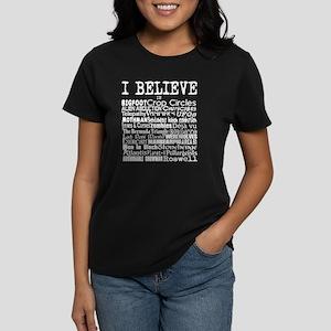 I believe - white Women's Dark T-Shirt