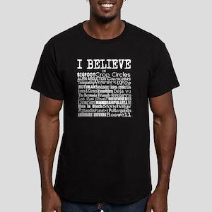I believe - white Men's Fitted T-Shirt (dark)