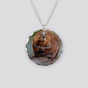 Beaver cp Necklace Circle Charm