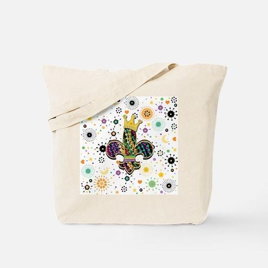 FleurCelebrPatFSqW Tote Bag