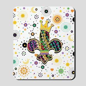 FleurCelebrPatFSqW Mousepad