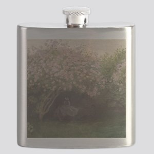 Lilacs, Grey Weather, by Monet Flask