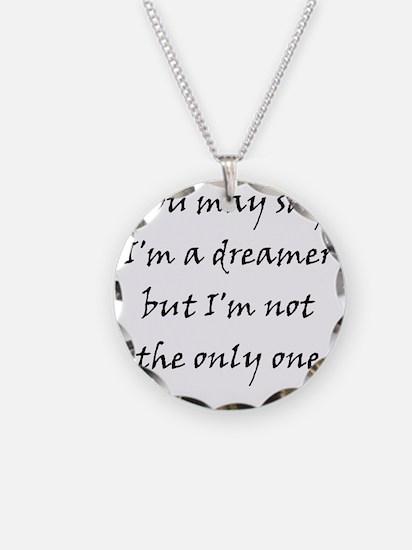 Imagine Necklace Circle Charm