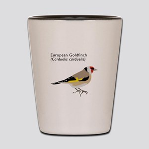 european goldfinch Shot Glass