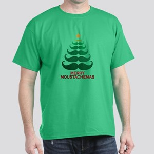 Moustachemas Christmas Tree Dark T-Shirt