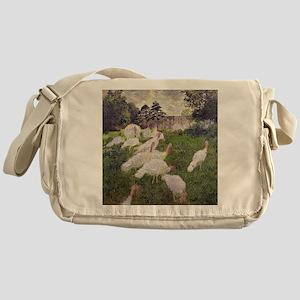 The Turkeys at the Chateau de Rottem Messenger Bag