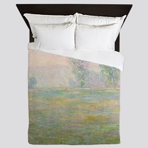 Meadows in Giverny,  by Monet Queen Duvet