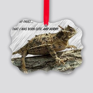 Horny Toad Pic cp Picture Ornament