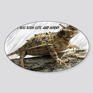 Horny Toad Pic cp Sticker (Oval)