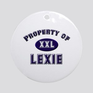 Property of lexie Ornament (Round)