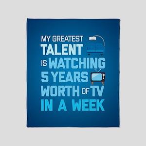 Greatest Talent Emoji Throw Blanket