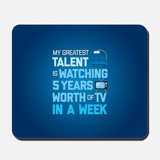 Greatest Talent Emoji Mousepad