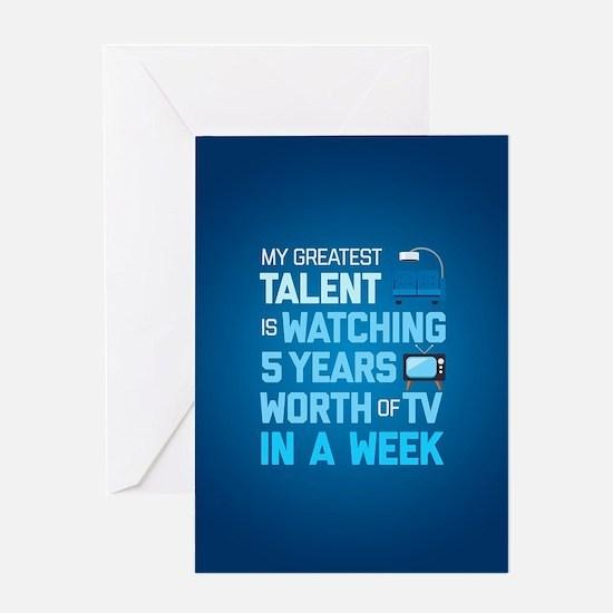 Greatest Talent Emoji Greeting Card