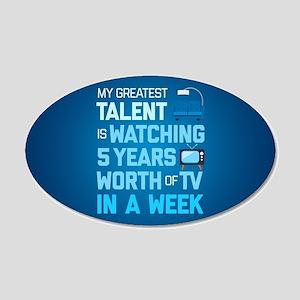 Greatest Talent Emoji 20x12 Oval Wall Decal